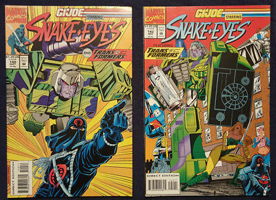 GI JOE #140, #141, #142 (with Snake Eyes and The Transformers) Marvel