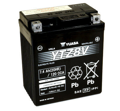 Genuine Yuasa YTZ8V 12V High Performance VRLA Motorbike Motorcycle Battery