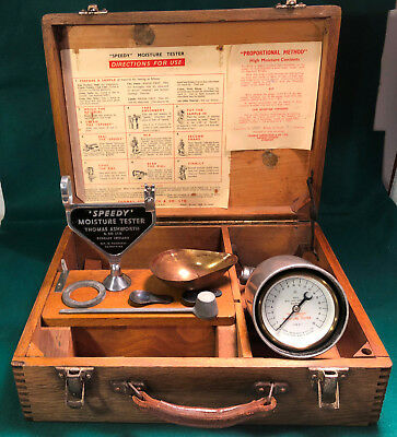 Thomas Ashworth England SPEEDY MOISTURE TESTER No 15301 in Original Case