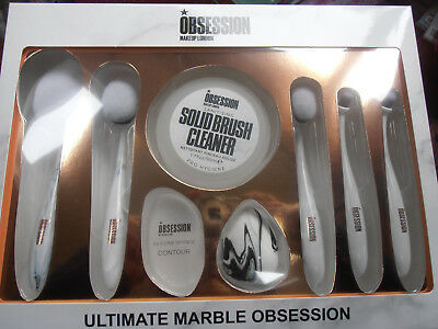 Obsession Ultimate Marble Make Up Cosmetic brush set NEW