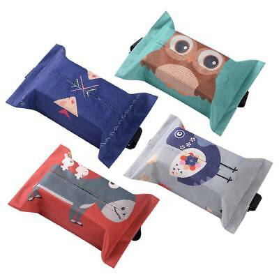 Handkerchief Case Decor Cute Cotton Cartoon Napkin Cover Paper Holder Tissue Box