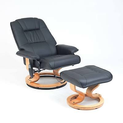 Drive Heartwood Faux Leather Heat and Massage Armchair Chair with Foot Stool