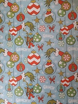 The Grinch Christmas Gift Wrapping Paper The Grinch who stole Christmas Max