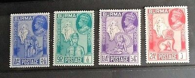 Burma Stamps-  Set Of 4,geo Vi   Dated 1946  Very Fine Mint/never Hinged