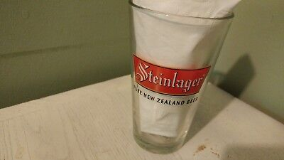 "Steinlager New Zealand Glass-  6"" X 3 1/4"" - No Chips/cracks"