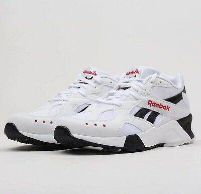 Reebok Aztrek Unisex White Black Excellent Red CN7187 Running Shoes  Sneakers NIB 832a5def6