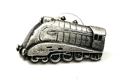STEAM TRAIN PEWTER HAND CRAFTED LAPEL PIN BADGE IN POUCH GIFT IDEA