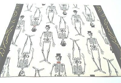Goth Voodoo altar cloth skeletons black white purple Wicca witch pagan Samhain