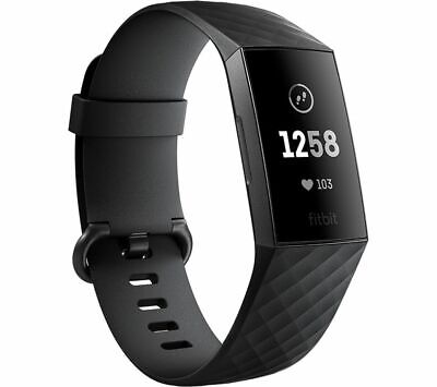 FITBIT Charge 3 - Black & Graphite, Universal - Currys