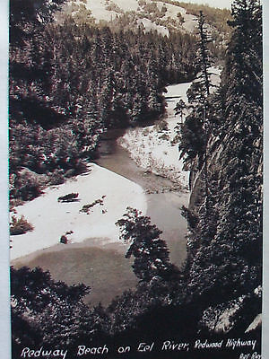 Vintage  Photo  4X6  Redway Beach Eel River  Vacation Place ,  California