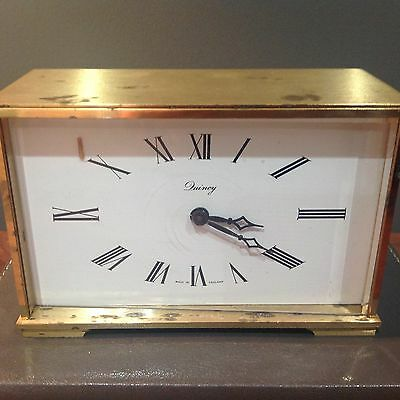 QUINCY Vintage Gilt Brass Bevelled Glass Carriage Clock For Spares Or Repair
