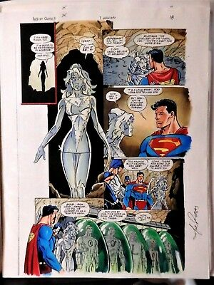 Superman In Action #1M Page # 18 Colorguide Production Art-Signed By Joe Rosas
