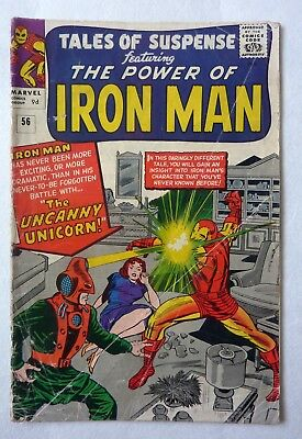 Tales Of Suspense 56 Iron Man Silver Age G+/VG- First Unicorn 1964