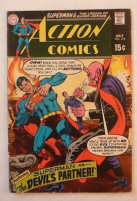 Action Comics 378 Superman Silver Age 1969 DC VG++/NF- Condition