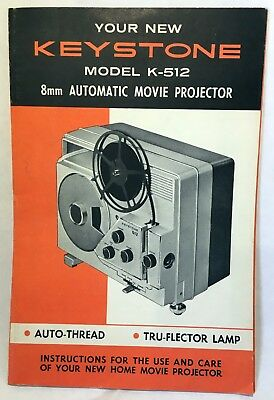 KEYSTONE 8MM MOVIE Projector Instruction Manual Book for