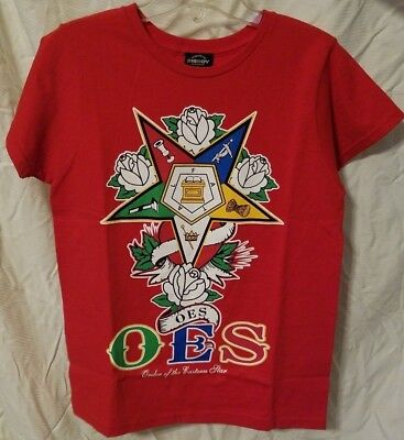 OES Red T-Shirt Eastern Star- SMALL S