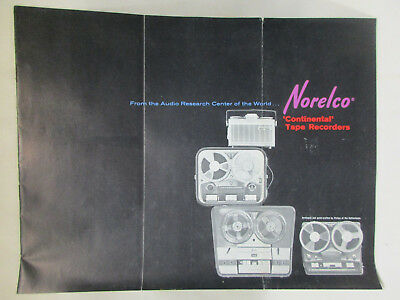 """1964 Vintage Ad for NORELCO """"Continental"""" Tape Recorders, # 401, 300, 200, 100"""