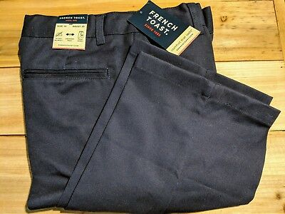 NEW! French Toast Uniform Pants Navy Blue Size 10 Modern Fit Adjustable Waist