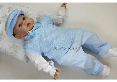 Baby Boy Blue Smart Tank Top Outfit Christening Special Occasion Christmas Party