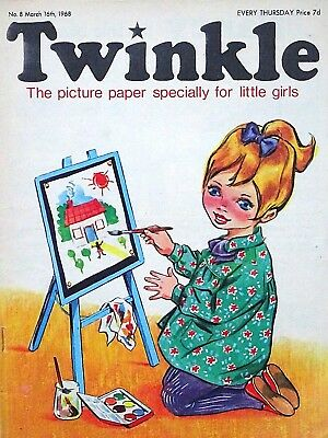 TWINKLE #8 - 16th MARCH 1968 - SCARCE VERY EARLY ISSUE !! VG+...bunty judy mandy