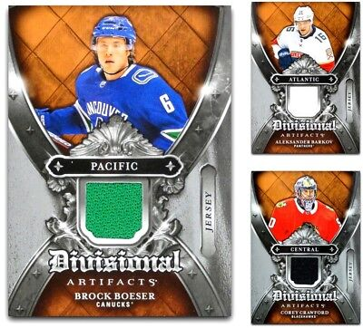 2018-19 UD Artifacts Divisional Jersey **** PICK YOUR CARD **** From The LIST