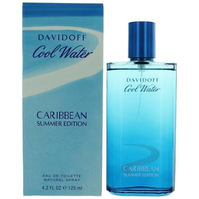 Cool Water Caribbean Summer by Davidoff, 4.2 oz EDT Spray for Men