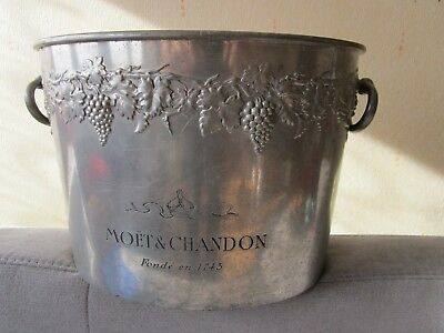 Ancienne Vasque Champagne  Moet Et Chandon Epernay En Etain  / Old Bucket Tin