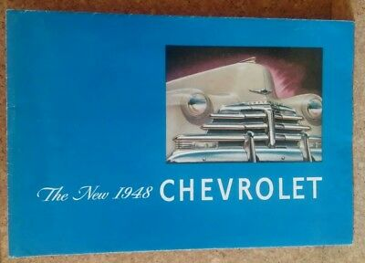 The New 1948 Chevrolet fold-out sales brochure catalog