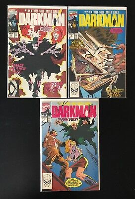 Darkman Marvel Comic Books Issues 1-3 Complete Set