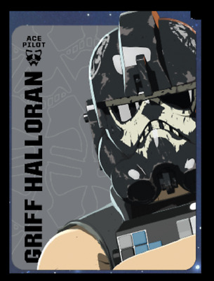 Topps Star Wars Card Trader Resistance Ace Pilot Portraits Griff Hall Halloran
