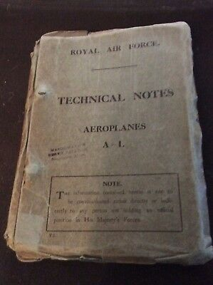 Royal Air Force Technical Notes, Aeroplanes A-I WWI Aircraft, Curtis, Bristol