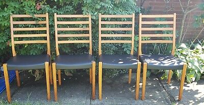 Mid Century Set of 4 Teak Svegards Markaryd (Sweden) Dining Chairs/ Delivery