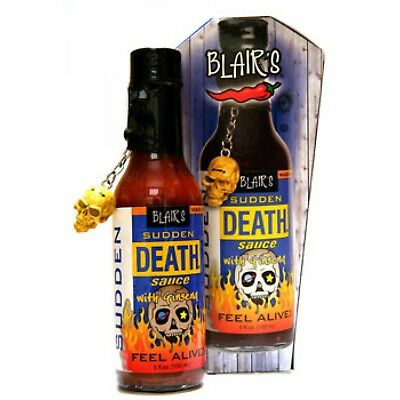 """BLAIR'S SUDDEN DEATH SAUCE WITH GINSENG"" - Limited Availability Chilli Sauce"