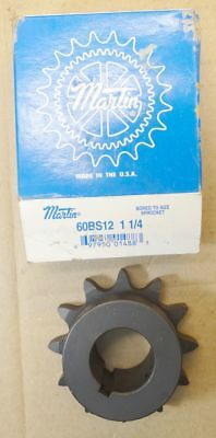 "Martin Sprocket & Gear 60BS12 1 1/4 Finished Bore Sprocket - 60 / 3/4"" 12 teeth"