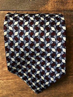 Cocktail Collection Scotch Men's Neck Tie-Red Blue Silver Tan-Diamond-100% Silk
