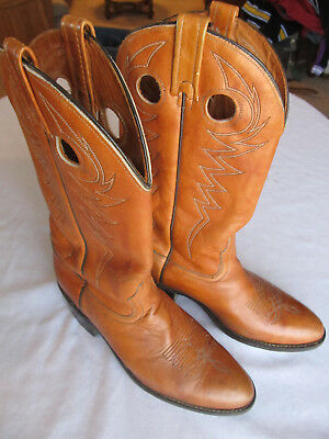 eb33b3900502 VINTAGE ACME MARBLED Leather Cowboy Boots Man s 10 D Made In Usa ...