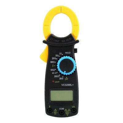 Digital LCD Clamps Multimeter AC DC Volt Voltage Amp Ohm Electronic Tester Meter