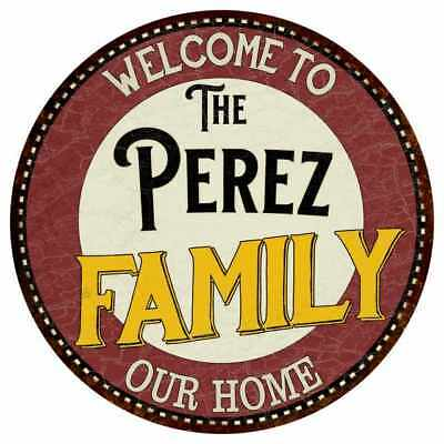 THE PEREZ FAMILY KITCHEN Personalized Chic Metal Sign 106180039030