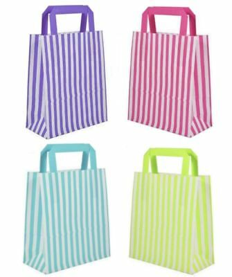 Candy Stripe Flat Handle SOS Bags  Birthday Party Paper Gift Bag  Multi listing