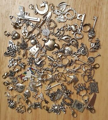 £1 Single Clip On Charms for Bracelet Necklace Bag /Charm CHOOSE FROM 135 styles