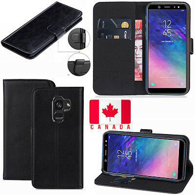 For Samsung Galaxy A8 2018 Luxury Pu Leather Magnetic Flip Stand Case Cover