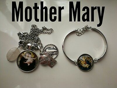 Code 400 Mother Mary infused n charged necklace bracelet confirmation Christmas