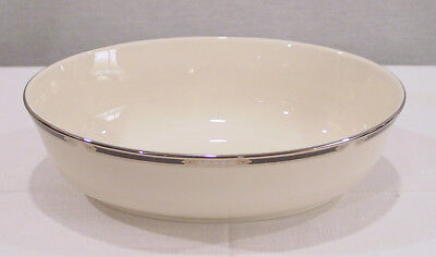 "Lenox China Hancock Platium Pattern Oval Vegetable Bowl 9 5/8""  New With Tags"