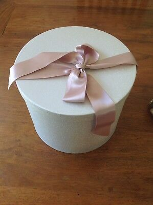 Hat Box With Pink Ribbon