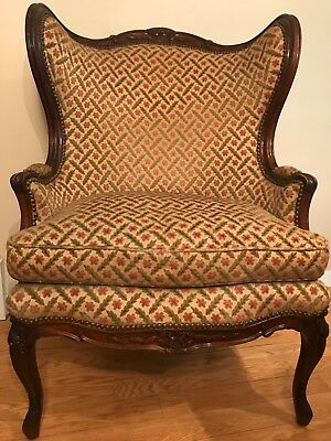 Louis XV Style Bergere Wing Chair,19th Century