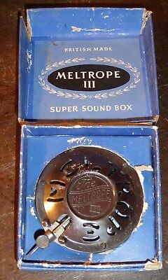 Meltrope III Super Sound Box for 78 rpm record players HMV etc boxed unused