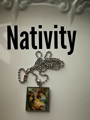 Code 403 Mother Mary Nativity scene Charged n Infused Necklace Confirmation Gift