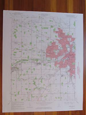 Muncie West Indiana 1964 Original Vintage USGS Topo Map