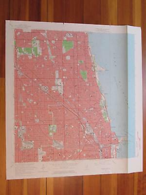 Chicago Loop Illinois 1964 Original Vintage USGS Topo Map