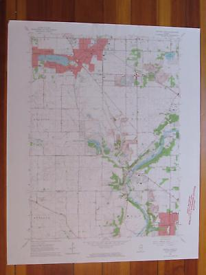 Crystal Lake Illinois 1964 Original Vintage USGS Topo Map